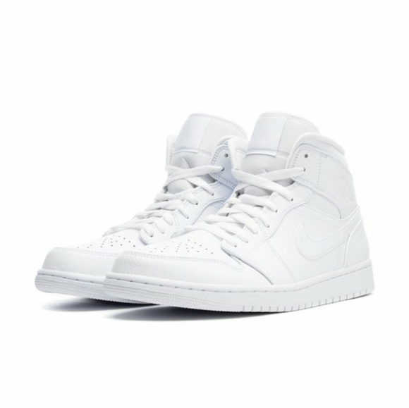NIKE AIR JORDAN 1 MID MENS NEW SIZE 10 WHITE